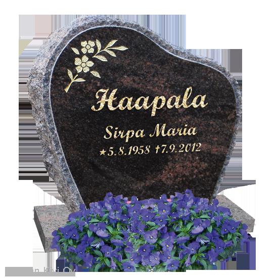 kukkakoriste hautakivessä