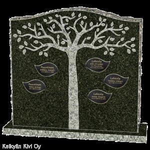muistolaatta hautakiveen