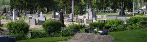yleiskuva hautausmaasta